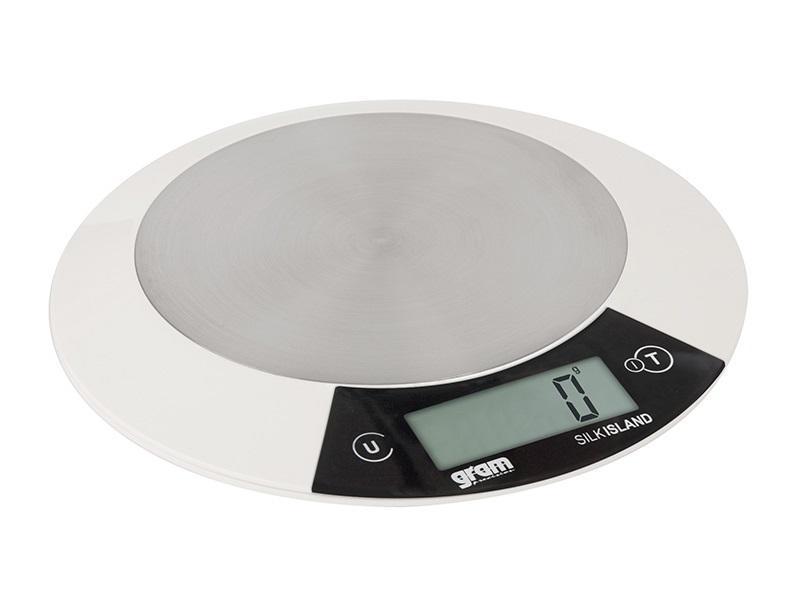 Balanza de cocina gram silk island 1g g la for Balanza cocina 0 1 g